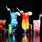 cocteles bebidas hechas en casa bartender alcohol