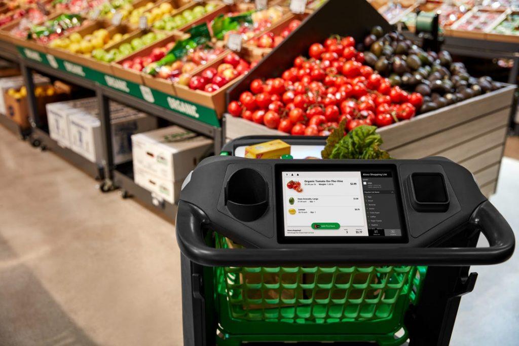 Amazon Dash Cart carrito inteligente supermercado