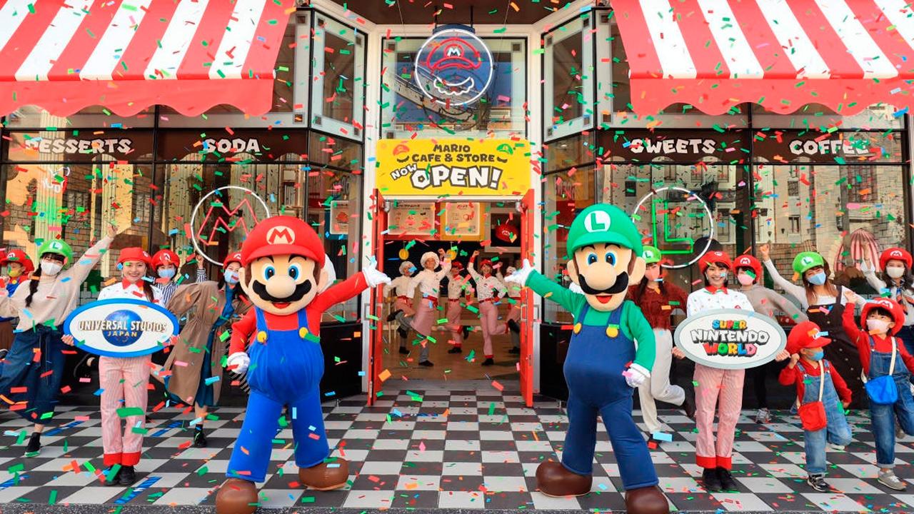 Mario Bros restaurante cafeteria Japon