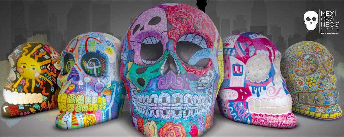 Mexicráneos 2020: la exposición artística que celebra el día de muertos en CDMX