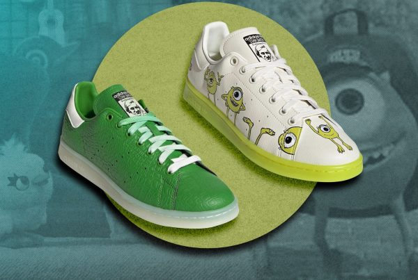 tenis adidas pixar colaboracion sneakers rex toy story monsters inc