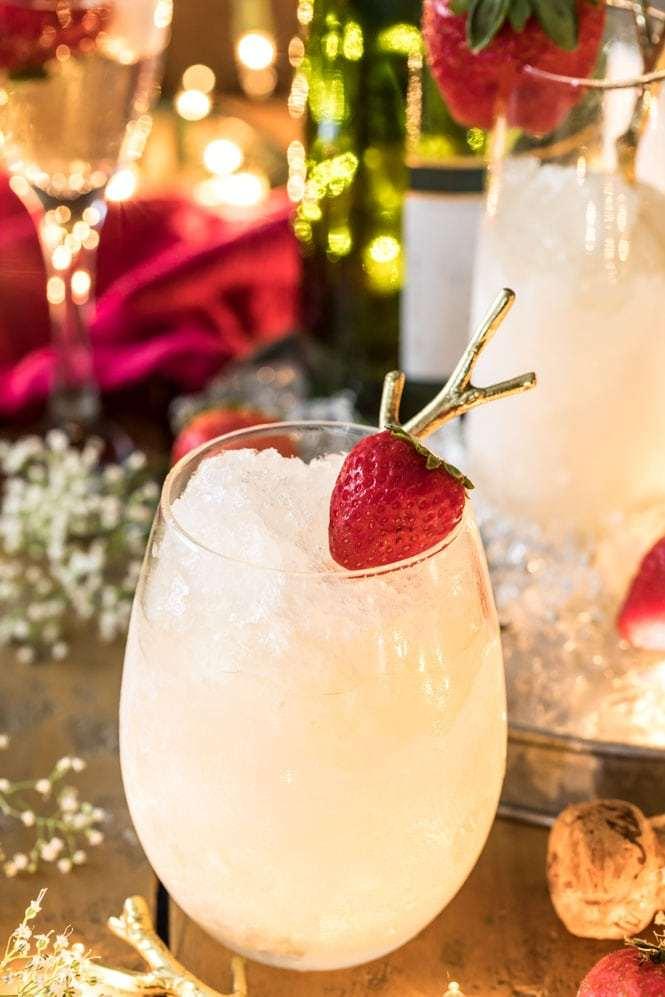 Granizado de Champagne coctel festiva